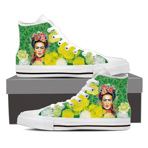 Women's Frida Kahlo High Tops - Green