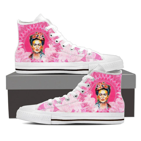 Women's Frida Kahlo Pink High Tops