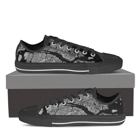 Men's NYC Map Low Top Gray