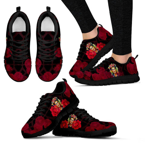 Women's Frida Kahlo Red Sneakers