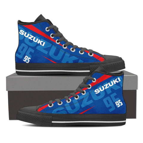 Men's Suzuki GSXR Blue High Tops - Black