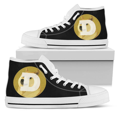 Cryptocurrency Dogecoin Men's High Tops | HODL On For Dear Life