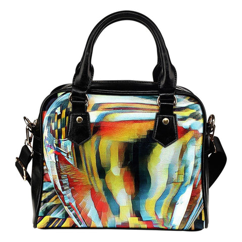 Glass Apple Abstract Photographic Print Shoulder Bag