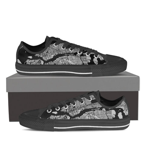 Women's NYC Map Low Top Gray