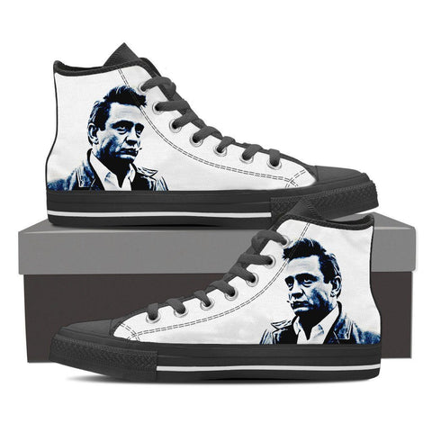 Men's Johnny Cash High Tops - White