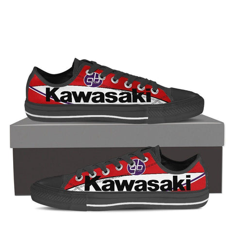 Men's Red Kawasaki GBmoto Low Tops - Black