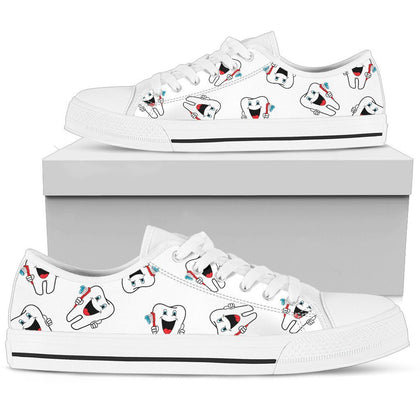 Women's Dental Dentist Tooth Low Tops