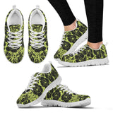 Yellow Botanical Women's Athletic Shoes