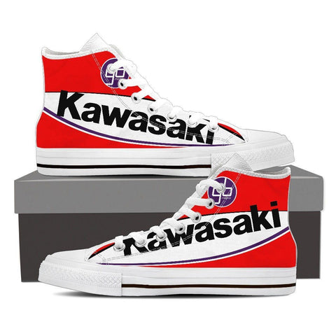 Men's Red Kawasaki GBmoto High Top - White