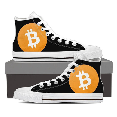 Cryptocurrency Bitcoin Cash Men's High Tops | HODL On For Dear Life
