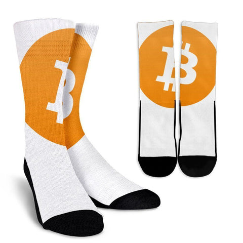 Cryptocurrency Bitcoin Socks | HODL On For Dear Life