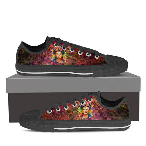 Women's Frida Kahlo Low Tops - Black