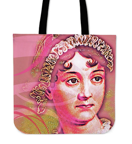 Jane Austen Pink Canvas Tote