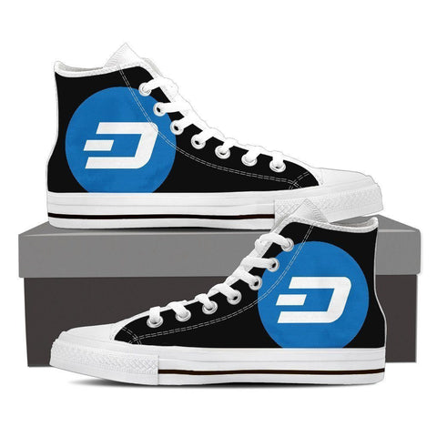 Cryptocurrency Dash Men's High Tops | HODL On For Dear Life