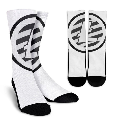Cryptocurrency Litecoin Socks | HODL On For Dear Life