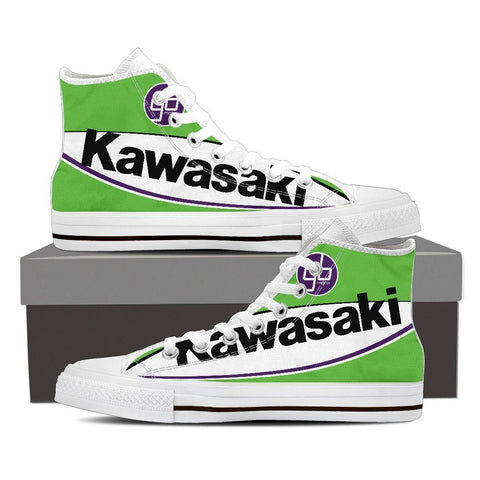Men's Kawasaki GBmoto High Tops - White