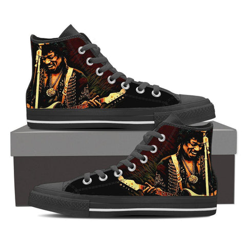 Women's Jimi Hendrix High Tops - Dark