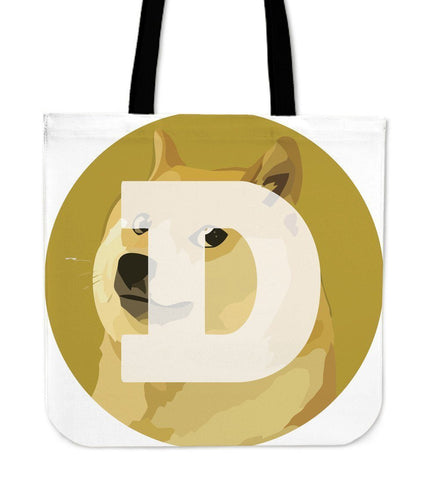 Cryptocurrency Dogecoin Tote Bag | HODL On For Dear Life