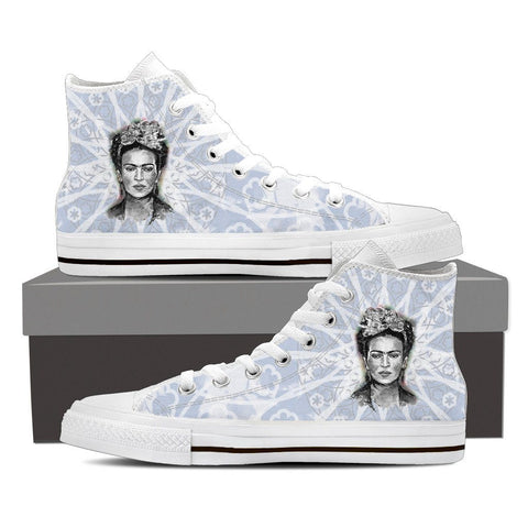 Women's Frida Kahlo Pale Gray High Tops