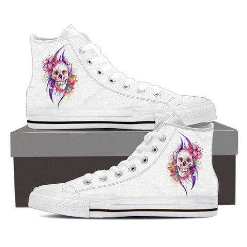 Flower Skull Women's High Tops