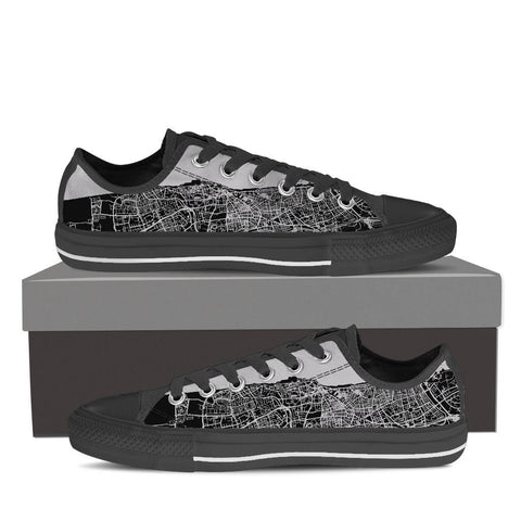 Women's Tel Aviv Map Low Top - Gray