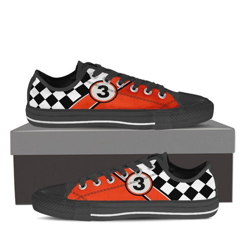 Classic Motorcycle Men's Low Tops Black