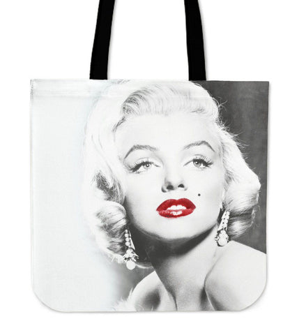 Marilyn Monroe Black and White Canvas Tote