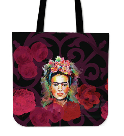 Frida Kahlo Red Canvas Tote