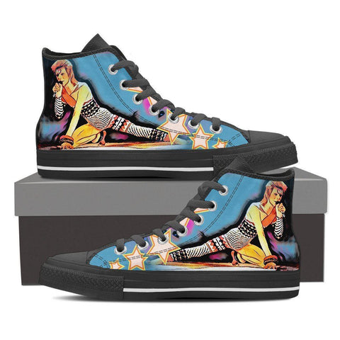 LIMITED EDITION! Women's David Bowie Star Stage Set High Tops