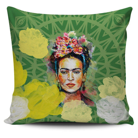 Frida Kahlo Green Pillow Cover