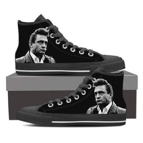 Men's Johnny Cash High Tops - Black