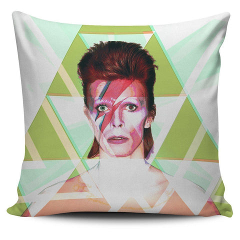 Green David Bowie Tribute Pillow Cover
