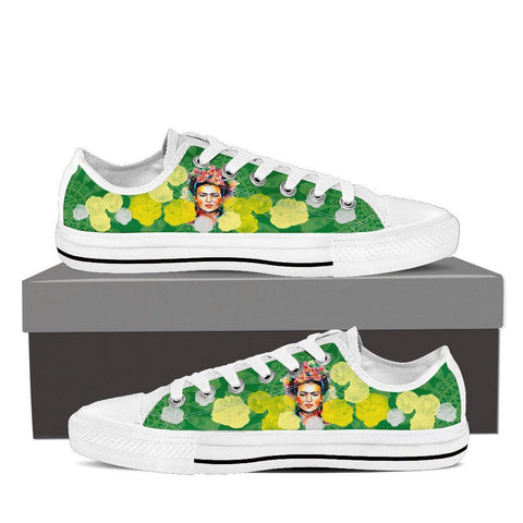 Women's Frida Kahlo Green Low Tops