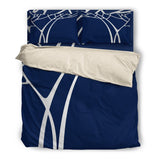 Navy and Silver Tree Duvet Set