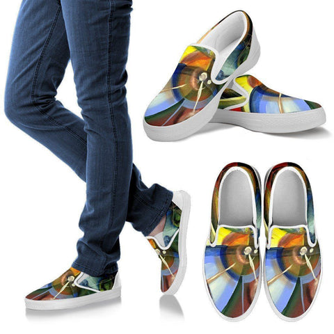 Women's Abstract Art Slip Ons