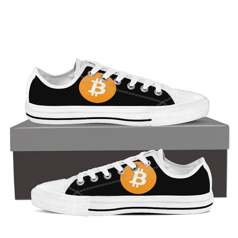 Cryptocurrency Bitcoin Women's Low Tops | HODL On For Dear Life