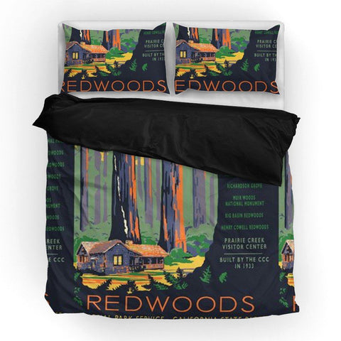 Redwoods National Park Duvet Set