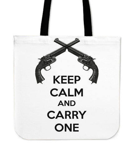 Keep Calm and Carry One Canvas Tote
