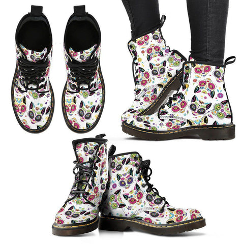 Sugar Cat Skull Women's Premium Boots