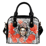 Frida Kahlo Black White and Red Purse