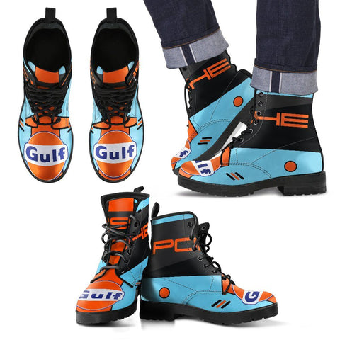 Men's Gulf Porsche Livery Leather Boots