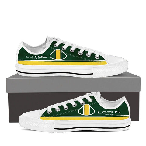 Men's Green and Yellow F1 Low Tops - white