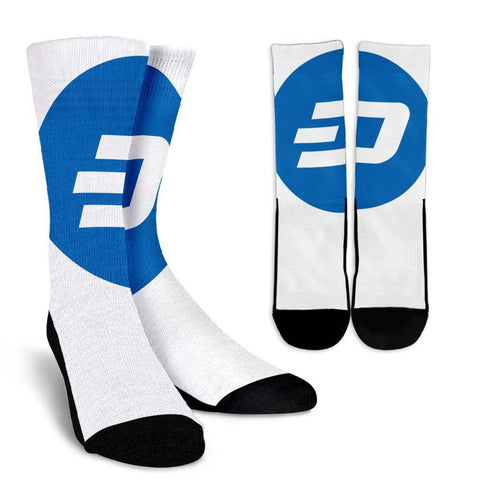 Cryptocurrency Dash Socks | HODL On For Dear Life