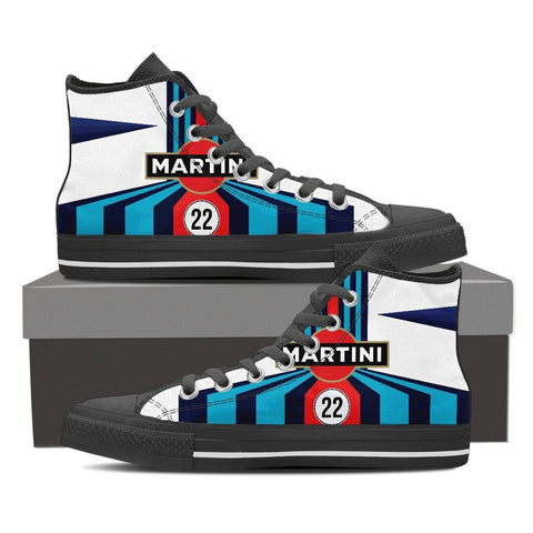 Men's Martini Racing Inspired High Top Shoes Black