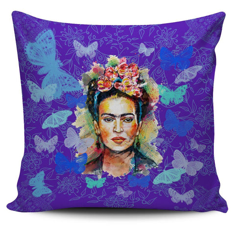 Frida Kahlo Blue Pillow Cover