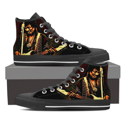Men's Jimi Hendrix High Tops - Dark