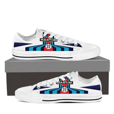 Men's Martini Racing Inspired Low Top Shoes White