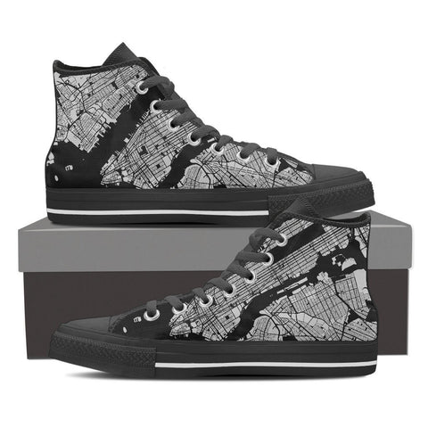 Men's NYC Map High Top Gray