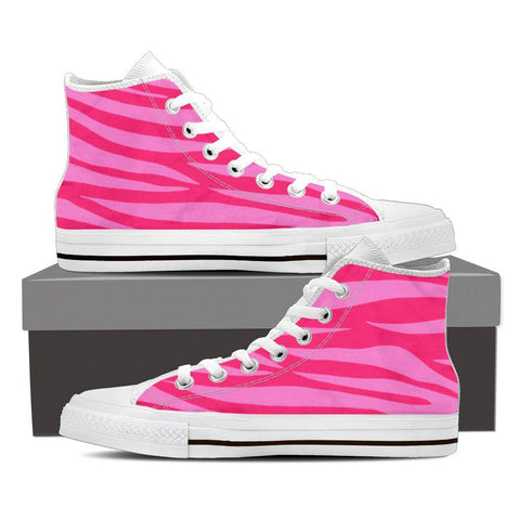 Women's Pink Zebra High Tops