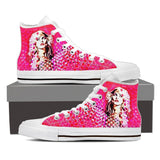 Heart of Glass Women's High-Top Canvas Shoe